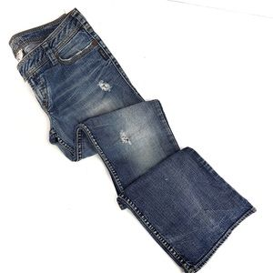 SILVER JEANS Bootcut TUESDAY distressed Jeans